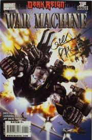 War Machine #1 Dynamic Forces Signed Greg Pak DF COA Ltd 100 Dark Reign Marvel comic book